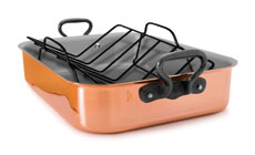 Mauviel M'heritage 150C Copper Roasting Pan with Rack