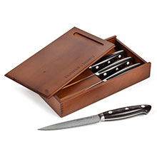 Zwilling J.A. Henckels Bob Kramer Stainless Damascus Steak Knife Set with Presentation Chest