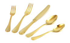 Oneida  Alessandra Stainless Steel with Titanium Finish Flatware Set