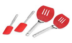 4-piece Nylon Pancake Spatula & Silicone Spatula Set