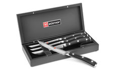 Wusthof Classic Ikon Steak Knife Set with Black Presentation Case