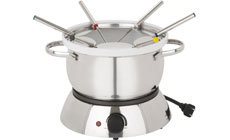 Trudeau Alto 3-in-1 Electric Stainless Steel Fondue Set with Ceramic Insert