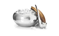 Nambe Scoop Stainless Steel Ice Bucket