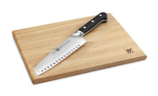 Zwilling J.A. Henckels Pro Hollow Edge Santoku with Board