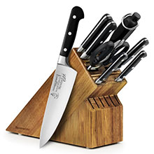 Messermeister Meridian Elite Walnut Knife Block Set