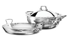 Mauviel M'elite Hammered Stainless Steel Entertaining Set