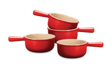 Le Creuset Stoneware 4-piece 16-oz. French Onion Soup Bowl Set