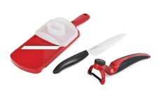 Kyocera Revolution 3-piece Ceramic Knife, Peeler & Slicer Set