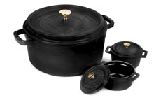 Staub 5½-quart Round Dutch Ovens with Two Mini Cast Iron Cocottes