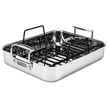 Viking Tri-Ply Stainless Steel Roasting Pan with Rack