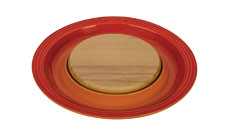 Le Creuset Stoneware Serving Platters with Cutting Board Insert