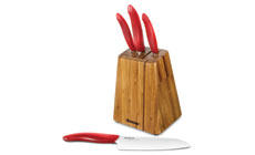 Kyocera Revolution 5-piece White Blade Ceramic Knife Block Set