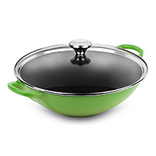 Le Creuset Signature Cast Iron 5-quart Wok with Glass Lid