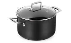 Le Creuset Forged Hard Anodized Nonstick Stock Pot with Glass Lid