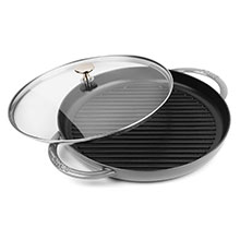 Staub 12-inch Steam Grills with Glass Lid