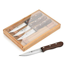 Zwilling J.A. Henckels Steakhouse Steak Knife Set with Bamboo Tray