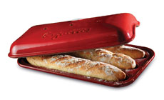 Emile Henry Flame 15½ x 9½-inch Baguette Baking Pans