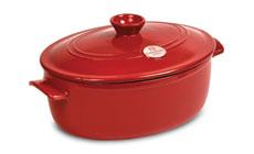Emile Henry Flame 6.3-quart Oval Stew Pots