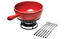 Emile Henry Flame Ceramic Cheese Fondue Sets