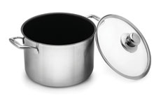 Swiss Diamond Prestige Clad Stainless Steel Nonstick Stock Pot