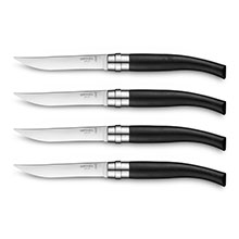 Opinel Ebony Handle Steak Knife Set