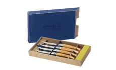 Opinel Ashwood Handle Steak Knife Set