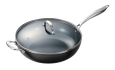 Kyocera Ceramic Nonstick Deep Skillet with Lid