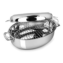Viking Oval Multi Roaster with Induction Lid & Rack
