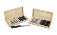 Recurve Forged Steak Knife Set with Case