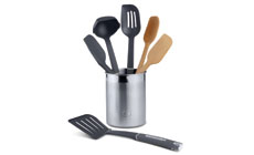 Calphalon Wood & Nylon Utensil Set