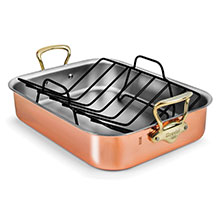 Mauviel M'heritage 150B Copper Roasting Pan with Rack