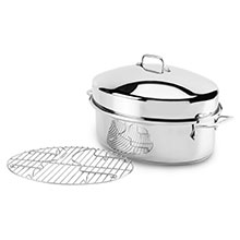 All-Clad Stainless Stainless Steel Covered Oval Roaster
