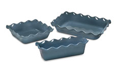 Emile Henry HR 3-piece Ruffled Bakeware Sets