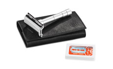 Dovo Merkur 46C Double Edge Safety Razor Travel Set