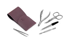 Dovo Stainless Steel Manicure Set with Lavender Case