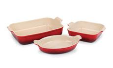 Le Creuset Stoneware 3-piece Heritage Bakeware Set