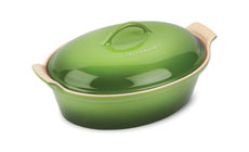 Le Creuset Stoneware Palm Heritage Covered Oval Casseroles
