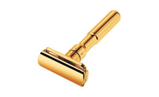 Dovo Merkur Futur 700 Adjustable Double Edge Safety Razor, Gold Plated