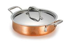 Lagostina Martellata Tri-Ply Hammered Copper Casseroles
