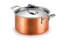 Lagostina Martellata Tri-Ply Hammered Copper Dutch Oven