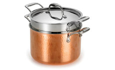 Lagostina Martellata Tri-Ply Hammered Copper Pastaiola