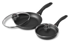 Swiss Diamond 8 & 10.25-inch Nonstick Skillet Set with Lids