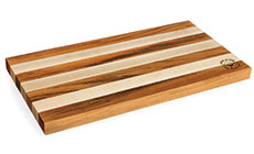 Cotton and Dust The Emma Tigerwood & Hard White Maple Cutting Board