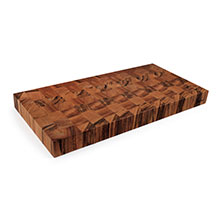 Cotton and Dust The Kathy End Grain Tigerwood Cutting Board