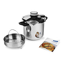 Viking Easy Lock Clamp Pressure Cooker with Steamer