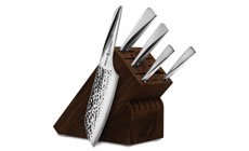 Chroma Type 301 6-piece Hammered Knife Block Sets