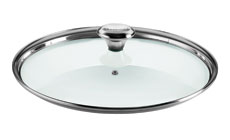 Le Creuset Paella Pan Glass Lid with Stainless Steel Knob & Steam Vent