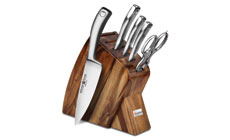 Wusthof Culinar PEtec Acacia Slim Knife Block Set