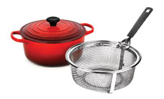 Le Creuset Signature Cast Iron 5½-quart Round Dutch Oven with Bonus Fry Basket