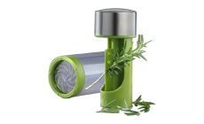 Microplane Easy Prep Stainless Steel 2-in-1 Herb Mill
